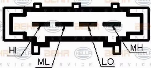 BEHR HELLA Service 9ML351332-371 - Kalorifer Rezidansı / Hız Ayar Motoru parcadolu.com
