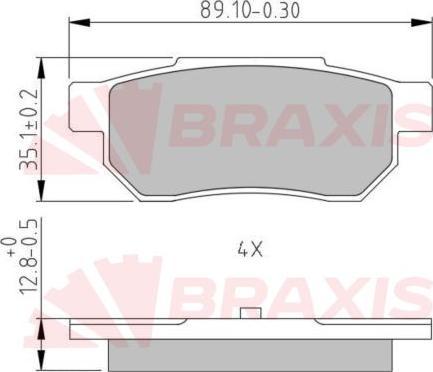 Braxis AA0633 - Fren Balata Seti , Diskli Fren parcadolu.com
