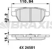 Braxis AA0289 - Fren Balata Seti , Diskli Fren parcadolu.com