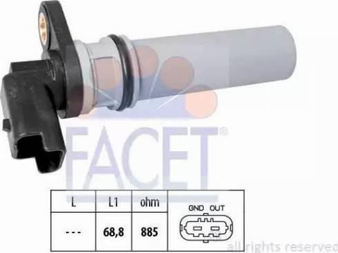 FACET 9.0537 - Krank Devir / Hız Sensörü , Şanzıman parcadolu.com