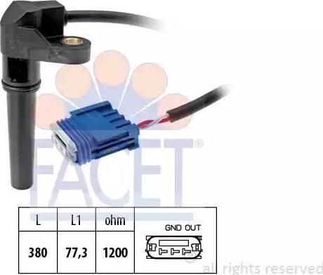 FACET 9.0618 - Krank Devir / Hız Sensörü , Şanzıman parcadolu.com