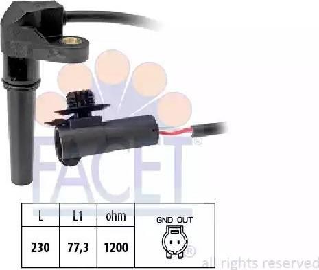 FACET 9.0617 - Krank Devir / Hız Sensörü , Şanzıman parcadolu.com