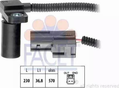 FACET 9.0233 - Krank Devir / Hız Sensörü , Şanzıman parcadolu.com
