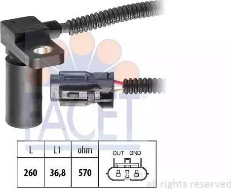 FACET 9.0232 - Krank Devir / Hız Sensörü , Şanzıman parcadolu.com