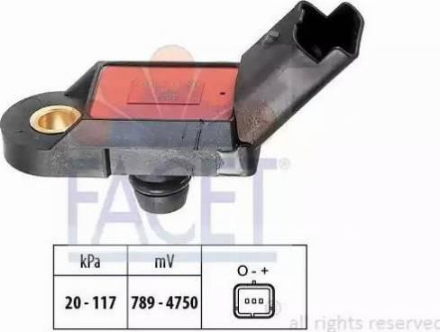 FACET 10.3056 - Basınç Sensörü , Fren Gücü Artiricisi parcadolu.com