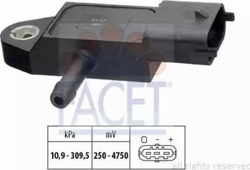 FACET 10.3144 - Fark Basınç Sensörü , Egzoz Basıncı parcadolu.com