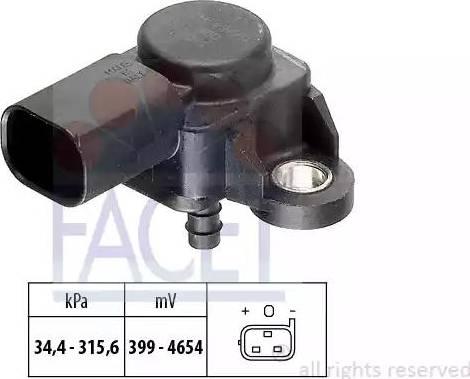 FACET 10.3165 - Fark Basınç Sensörü , Egzoz Basıncı parcadolu.com