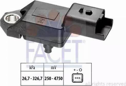 FACET 10.3136 - Fark Basınç Sensörü , Egzoz Basıncı parcadolu.com