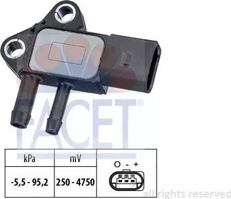 FACET 10.3297 - Fark Basınç Sensörü , Egzoz Basıncı parcadolu.com