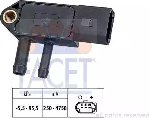 FACET 10.3264 - Fark Basınç Sensörü , Egzoz Basıncı parcadolu.com