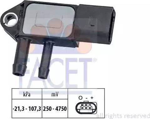 FACET 10.3265 - Fark Basınç Sensörü , Egzoz Basıncı parcadolu.com