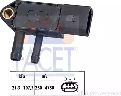 FACET 10.3266 - Fark Basınç Sensörü , Egzoz Basıncı parcadolu.com