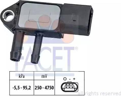 FACET 10.3263 - Fark Basınç Sensörü , Egzoz Basıncı parcadolu.com