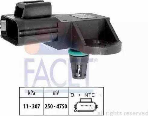 FACET 10.3205 - Fark Basınç Sensörü , Egzoz Basıncı parcadolu.com