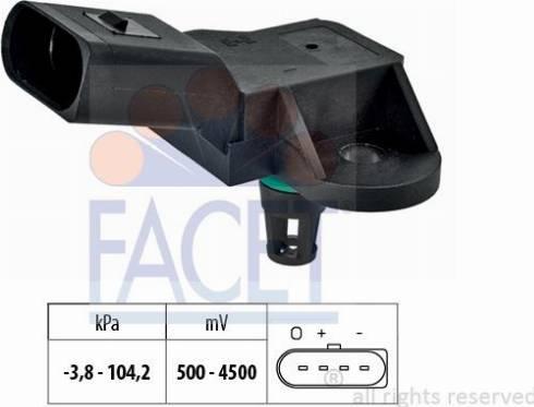 FACET 10.3280 - Basınç Sensörü , Fren Gücü Artiricisi parcadolu.com