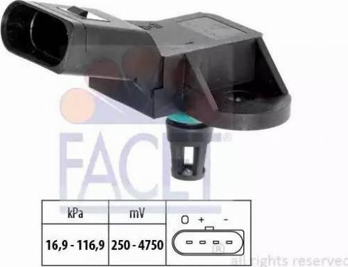 FACET 10.3226 - Basınç Sensörü , Fren Gücü Artiricisi parcadolu.com