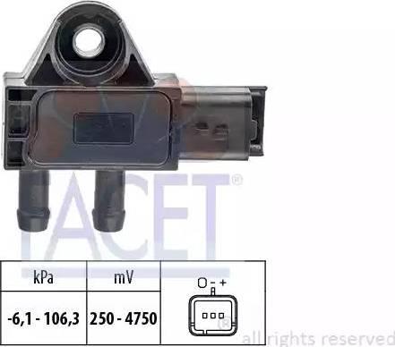 FACET 10.3271 - Fark Basınç Sensörü , Egzoz Basıncı parcadolu.com