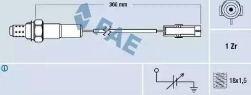 FAE 77101 - Lambda , Oksijen Sensörü parcadolu.com