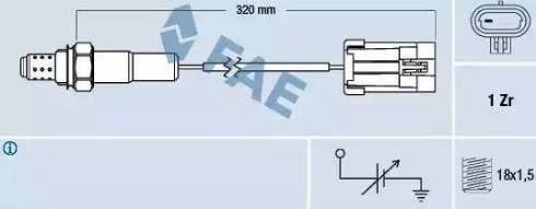 FAE 77102 - Lambda , Oksijen Sensörü parcadolu.com