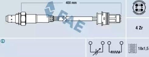 FAE 77267 - Lambda , Oksijen Sensörü parcadolu.com