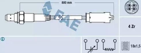FAE 77237 - Lambda , Oksijen Sensörü parcadolu.com