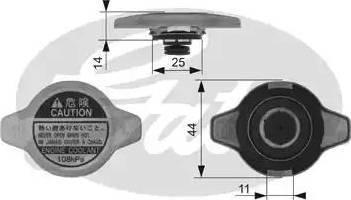 Gates RC134 - Radyatör Kapağı parcadolu.com