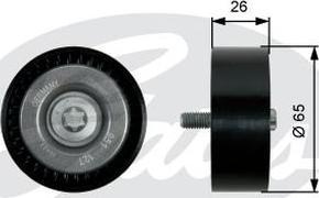 GATES-AU 36437 - Alternatör Gergi Rulmanı , Kanallı V-Kayısı parcadolu.com
