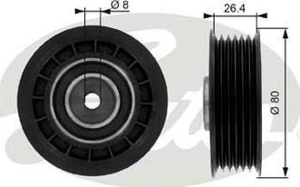 GATES-AU 36038 - Alternatör Gergi Rulmanı , Kanallı V-Kayısı parcadolu.com