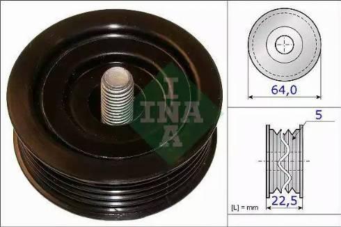 INA 532 0642 10 - Alternatör Gergi Rulmanı , Kanallı V-Kayısı parcadolu.com