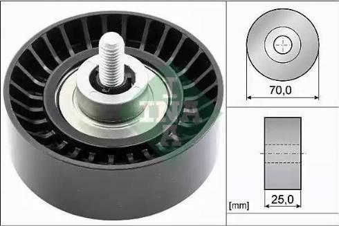 INA 532 0655 10 - Alternatör Gergi Rulmanı , Kanallı V-Kayısı parcadolu.com
