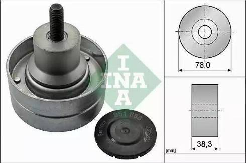 INA 532 0823 10 - Alternatör Gergi Rulmanı , Kanallı V-Kayısı parcadolu.com
