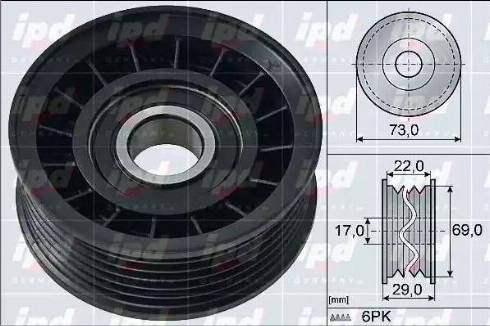 ABA 25856557 - Alternatör Gergi Rulmanı , Kanallı V-Kayısı parcadolu.com