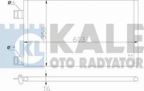 KALE OTO RADYATÖR 342550 - Kondansatör, Klima Radyatörü parcadolu.com