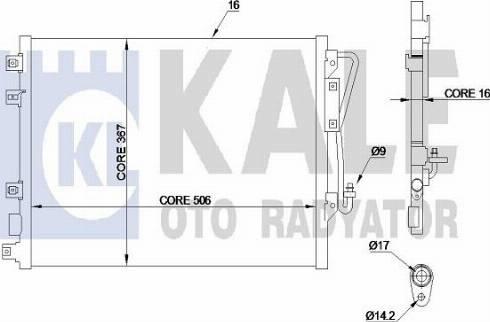 KALE OTO RADYATÖR 342820 - Kondansatör, Klima Radyatörü parcadolu.com
