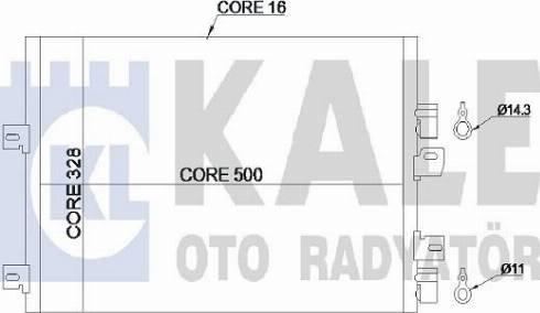 KALE OTO RADYATÖR 389200 - Kondansatör, Klima Radyatörü parcadolu.com