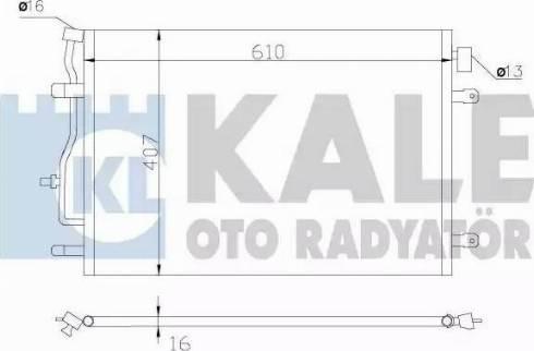 KALE OTO RADYATÖR 375700 - Kondansatör, Klima Radyatörü parcadolu.com