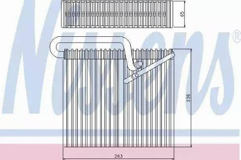 Nissens 92190 - Evaporatör, Klima / Kalorifer Radyatörü parcadolu.com