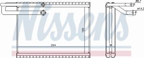 Nissens 92323 - Evaporatör, Klima / Kalorifer Radyatörü parcadolu.com