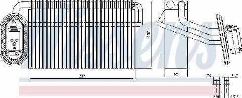 Nissens 92322 - Evaporatör, Klima / Kalorifer Radyatörü parcadolu.com