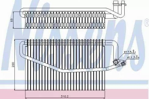 Nissens 92245 - Evaporatör, Klima / Kalorifer Radyatörü parcadolu.com