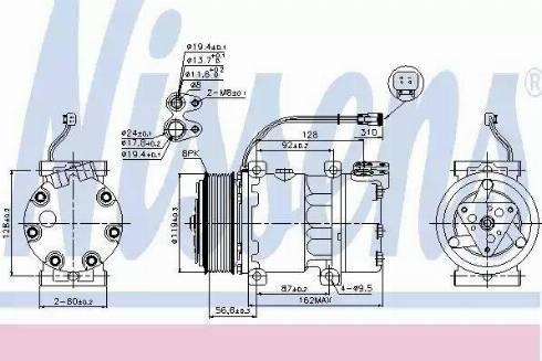 Nissens 89476 - Klima Kompresörü , Klima Sistemi parcadolu.com