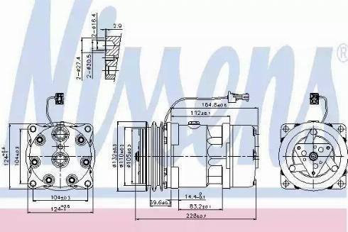 Nissens 89141 - Klima Kompresörü , Klima Sistemi parcadolu.com