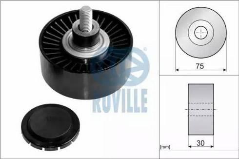Ruville 57609 - Alternatör Gergi Rulmanı , Kanallı V-Kayısı parcadolu.com