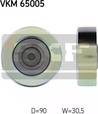 SKF VKM 65005 - Alternatör Gergi Rulmanı , Kanallı V-Kayısı parcadolu.com