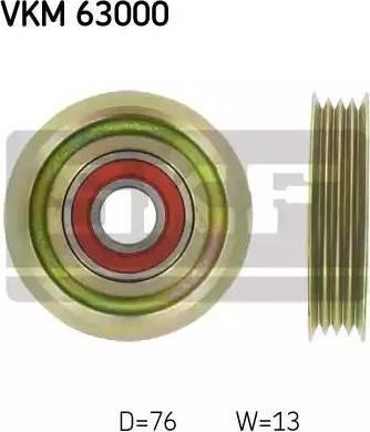 SKF VKM 63000 - Alternatör Gergi Rulmanı , Kanallı V-Kayısı parcadolu.com