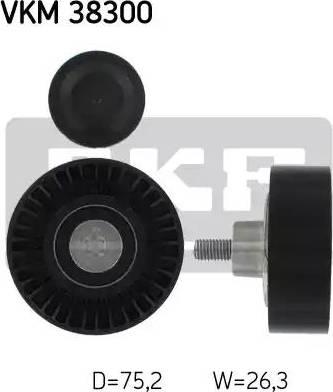 SKF VKM 38300 - Alternatör Gergi Rulmanı , Kanallı V-Kayısı parcadolu.com