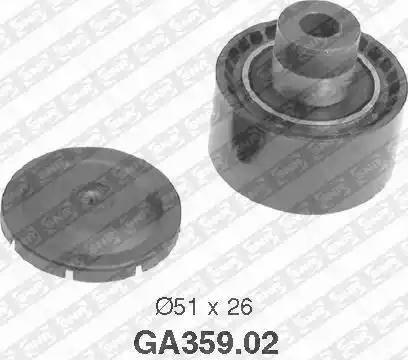 SNR GA359.02 - Alternatör Gergi Rulmanı , Kanallı V-Kayısı parcadolu.com