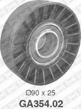 SNR GA354.02 - Alternatör Gergi Rulmanı , Kanallı V-Kayısı parcadolu.com