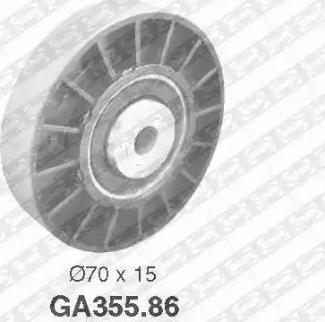 SNR GA355.86 - Alternatör Gergi Rulmanı , Kanallı V-Kayısı parcadolu.com