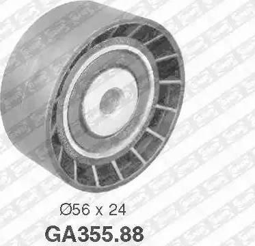 SNR GA355.88 - Alternatör Gergi Rulmanı , Kanallı V-Kayısı parcadolu.com
